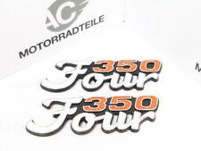 Honda CB 350 Four Emblem Set Lettering Side Fairing Seitendeckelemblem Repro