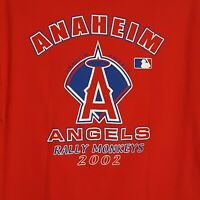 Anaheim Angels 2002 American League Champions Red Rally Monkeys Large T-Shirt
