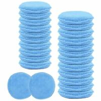 Wax Hand Polish Microfiber Applicator Pad for Automotive Car, Blue (24 Pack) T1