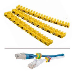 30x Kabelmarkierer, Clip mit Buchstaben A,B,C, für Kabel 4-6 mm, z.B. Netzwerk