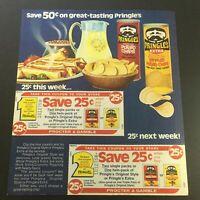 VTG 1982 Julius Pringles Original Style & Pringles Extra Potato Chips Ad Coupon
