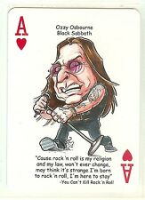 OZZY OSBORNE & BLACK SABBATH R&R HALL OF FAME SINGLE SWAP PLAYING CARD