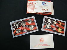 United States Mint Silver 2003 Proof Set MIB with COA