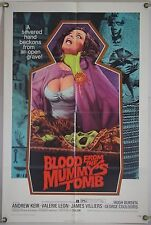 BLOOD FROM THE MUMMY'S TOMB FF ORIG 1SH MOVIE POSTER VALERIE LEON HAMMER (1971)