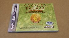 Ceasars Palace Advance MANUAL INSTRUCTION BOOKLET ONLY FOR GAME BOY ADVANCE Grad