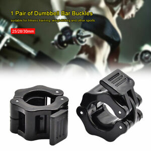 Pair Barbell Collar Lock Clips Clamp Weight Lifting Bar Fitness Dumbbell Buckle