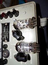 2  1956 Amperex bugle boy  Huge foil D getter 12ax7 tubes # Z34