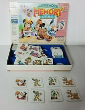 Vintage 1990 Mickey Mouse Memory Game Complete Matching Minnie Donald Pluto