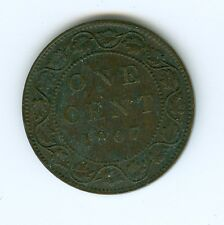 CANADA 1907-H LARGE CENT--EXTRA FINE