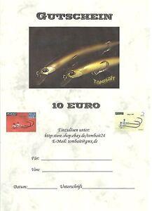 Angel Gutschein Angeln Werkzeug von 100,00 Euro beliebig einlösbar bei TOMBAIT24