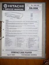 Manuel de reparation pour Hitachi DA-006 ,ORIGINAL
