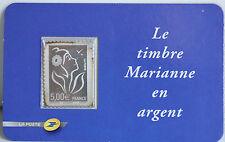 TIMBRE EN ARGENT SOUS BLISTER - MARIANNE - FACIALE 5 €