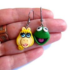 Kermit la Rana Orecchini Miss Piggy Divertente Verde Pasqua regalo Orecchini Jewelry
