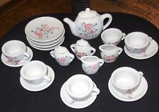 Vintage   Children's Tea Set- Teapot Sugar Creamer 6 Cups  pieces 23  total