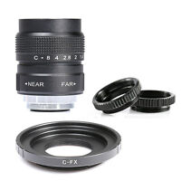 25mm F1.4 CCTV TV Movie lens + C Mount to Fuji Fujifilm X-E2 X-E1 X-Pro1/M1 C-FX