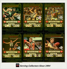 2001 Teamcoach Trading Cards Gold Prize Team Set Collingwood (6)-Rare