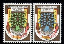 UN GUINEE 1960 WORLD REFUGEE YEAR SET OF 2 #'s 42 and 43  MNH