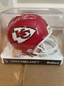 Will Shields Autographed Mini Helmet Kansas City Chiefs HOF '15 TriStar Cert.