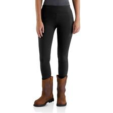 Womens Work Leggings Utility Pants Black Tall Medium Lightweight Nylon Spandex