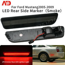 FOR 2005 2006 2007 2008 2009 Ford Mustang LED Side Marker Light Red Rear Smoked