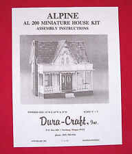 Dura-Craft *SOUTHERN MANSION* SM-700 /'81 Dollhouse Instructions OFFERING DIGITAL