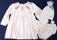 NWT First Impressions 3 Pc. Pale Pink Knit Dress Set, 3-6 Mos., $32
