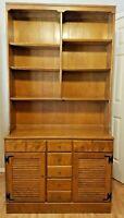 "Ethan Allen Heirloom Hutch Cabinet Base Bookcase Nutmeg Maple CRP RARE 14"" DEEP"