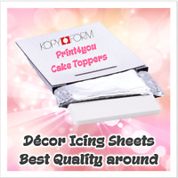 25 A4 DECOR PAPER PLUS EDIBLE ICING SHEETS FOR HOME PRINTING CAKE TOPPERS