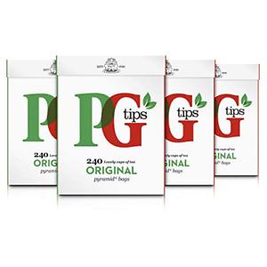 PG tips Original Biodegradable Pyramid Tea Bags, Large Pack of 960 Everyday Tea
