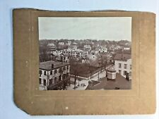 COLLEGE POINT NY BIRD'S EYE VIEW of 14th Rd & 116 St Antique CABINET PHOTO