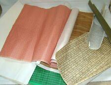 Vintage DOLLS HOUSE Decorating Sheets - Brick, Stone, Tiles, Wood, Crazy Paving