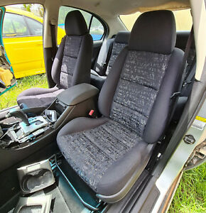Ford BA BF Falcon SR Black Cloth Front + Rear Seats Trim Code B1 From Low KM Car