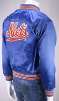 CHALK LINE Vintage 80's-90's Satin New York Mets Blue Bomber Jacket Youth 18-20