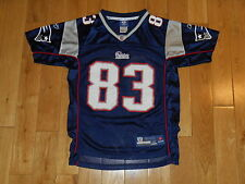 REEBOK ON FIELD WES WELKER NEW ENGLAND PATRIOTS YOUTH NFL TEAM REPLICA JERSEY MD