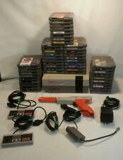 ☆ LOT NES NINTENDO 48 GAMES CLEANED & TESTED- 1 CONSOLE 2 CONTROLLERS & GUN  F/S