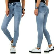 jeans donna elasticizzati a vita alta denim pantaloni slim strass brillantini