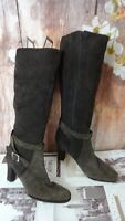 DESIGNER JENNIFFER TATTANELLI HANDMADE BROWN LEATHER HEEL BOOTS SIZE 41EU/7UK DI