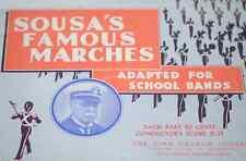 Sousa's Famous Marches School Bands B Bass Saxophone Score Sheet Music #9D205