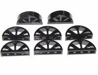 LEGO LOT OF 8 BLACK WINDOWS WITH ROUNDED TOP 1 X 4 X 1 2/3 SPOKED HOUSE PARTS