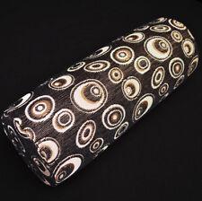 we603g Gold Peacock Eye Black Chenille Bolster Pillow Case Yoga Neck Roll Cover