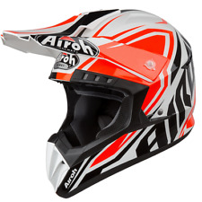 CASCO DA MOTO CROSS ENDURO QUAD AIROH SWITCH IMPACT ORANGE GLOSS 2019 TAGLIA L