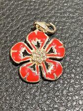 Genuine Thomas Sabo Red Pansy Flower Pendant Charm RRP£35 Rare Retired