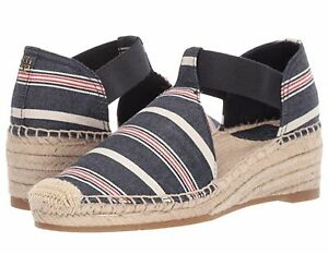 NIB Tory Burch Catalina 3 Closed Toe Casual Ankle Strap,Navy Multi,Size US 9