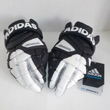 """adidas EQT BERSERKER LaCrosse Goalie Gloves BLACK WHITE AJ2876 Medium Size 12"""""""