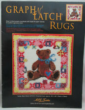 Mcg Textiles Graph N' Latch Rug Pattern Teddy Bear Block #37510
