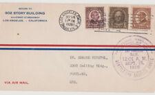 1926 USA cover Los Angeles to Oregon. Hale, Cleveland & Harding.