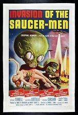 INVASION OF THE SAUCER MEN ✯ CineMasterpieces 1957 MOVIE POSTER SPACE ALIEN