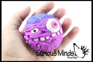 1 Gross Monster Guy Stress Ball -Liquid Filled Sensory Halloween Toy Disgusting
