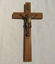 Vintage Wood Cross Crucifix Wall Hanging