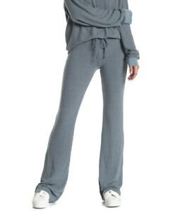 $135 Wildfox Blue Gray Stretch Drawstring Tennis Club Fleece Pants Size Xs
